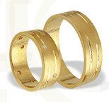 Pair of the yellow gold wedding rings ST-189Z(C)