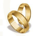 Pair of the yellow gold wedding rings ST-18Z