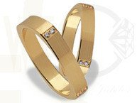 Pair of the yellow gold wedding rings ST-192Z(C)
