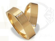 Pair of the yellow gold wedding rings ST-193Z(C)