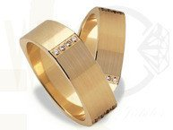 Pair of the yellow gold wedding rings ST-194Z(C)