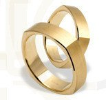 Pair of the yellow gold wedding rings ST-196Z