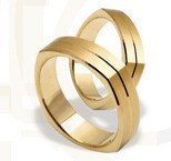 Pair of the yellow gold wedding rings ST-197Z