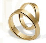 Pair of the yellow gold wedding rings ST-198Z