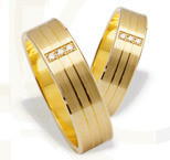 Pair of the yellow gold wedding rings ST-206Z(C)