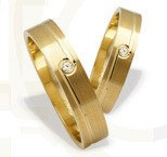 Pair of the yellow gold wedding rings ST-207Z(C)