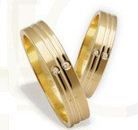 Pair of the yellow gold wedding rings ST-208Z(C)