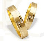 Pair of the yellow gold wedding rings ST-210Z(C)