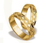 Pair of the yellow gold wedding rings ST-22Z