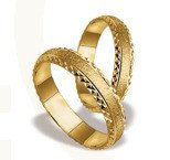 Pair of the yellow gold wedding rings ST-24Z
