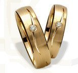 Pair of the yellow gold wedding rings ST-258Z(C)