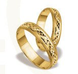 Pair of the yellow gold wedding rings ST-25Z