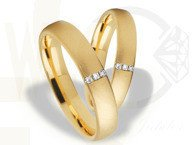 Pair of the yellow gold wedding rings ST-261Z(C)