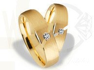 Pair of the yellow gold wedding rings ST-262Z(C)