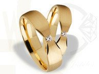 Pair of the yellow gold wedding rings ST-263Z(C)