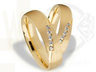 Pair of the yellow gold wedding rings ST-269Z(C)