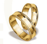 Pair of the yellow gold wedding rings ST-26Z