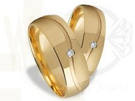 Pair of the yellow gold wedding rings ST-286Z(C)