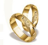 Pair of the yellow gold wedding rings ST-38Z