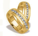 Pair of the yellow gold wedding rings ST-71Z(C)