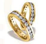 Pair of the yellow gold wedding rings ST-84Z(C)