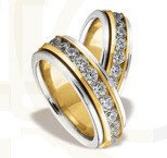 Pair of the yellow & white gold wedding ring ST-83ZB(C)