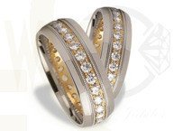 Pair of the yellow & white gold wedding rings ST-181BZ(C)