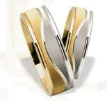 Pair of the yellow & white gold wedding rings ST-199ZB