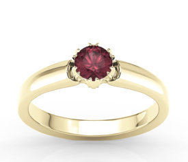 Ruby 14 ct yellow gold ring BP-2130Z