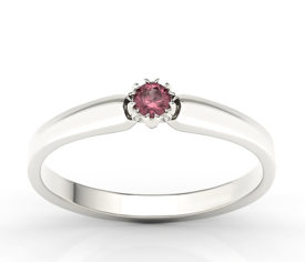Ruby 14ct white gold ring BP-2110B