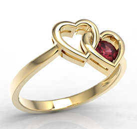 Ruby 14ct yellow gold ring LP-52Z