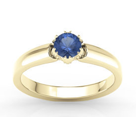 Sapphire 14 ct yellow gold ring BP-2130Z