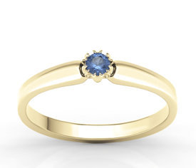 Sapphire 14ct yellow gold ring BP-2110Z
