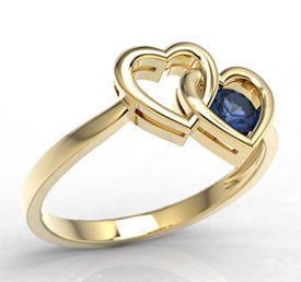 Sapphire 14ct yellow gold ring LP-52Z