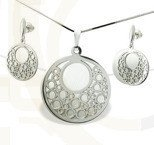 Set - earrings and pendant WEC-S-WZ2-KPL