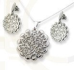 Set - earrings and pendant WEC-S-WZ3-KPL