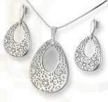 Set - earrings and pendant WEC-S-WZ5-KPL
