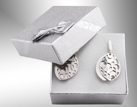 Silver earrings WEC-S-WZ1-KOL