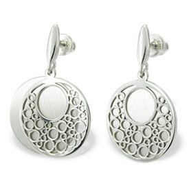 Silver earrings WEC-S-WZ2-KOL