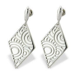 Silver earrings WEC-S-WZ4-KOL