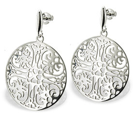 Silver earrings WEC-S-WZ9-KOL