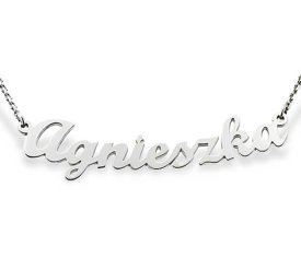 Silver necklace with your name WEC-S-IMIE-1