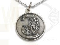 Silver ovale medallion with St. Florian  WEC-S-MED-2