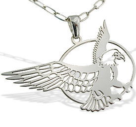 Silver pendant with eagle - 1