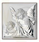 Silver shell gorget Angel with Child VL81200/4L