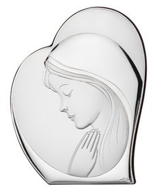 Silver shell gorget Madonna and Child SVL81051/2L
