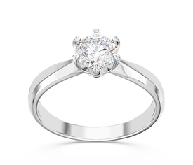 Solitaire diamond engagement ring, 14ct white gold AP-3668B