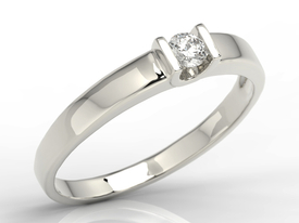 Solitaire diamond ring, 14ct white gold JP-9812B