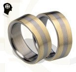 "Titanium wedding rings HADRYS ""Trio"""