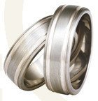 Titanium wedding rings with silver SWTS-76/7